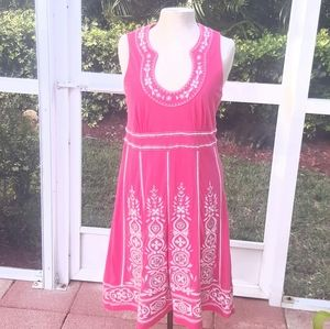 INC International Concepts Coral  Beaded Dress